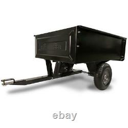 10 Cu. Ft Dump Cart Steel Garden Yard Lawn Mower Tractor Trailer Wheels Riding