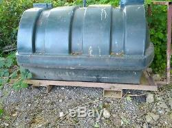 1250 Litre Fuel Diesel Plastic Single Skin Oil Tank on heavy duty forklift frame