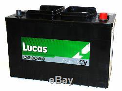 12V 110AH LUCAS 663 Heavy Duty Battery Tractor Lorry Truck Taxi Van Leisure Boat
