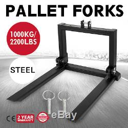 1T Pallet Forks Tines prongs Tractor heavy duty full steel