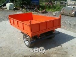 1.5-1.8 ton Garden building Trailer. Kubota Compact Tractor