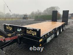 2020 HERBST 33T Heavy Duty High Speed Tri Axle 26ft Low Loader Trailer / Kane