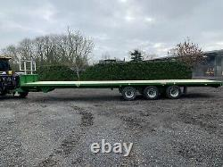 2020 Staines 40ft Heavy Duty High Speed Tri Axle Bale Flat Trailer /Kane /Herbst