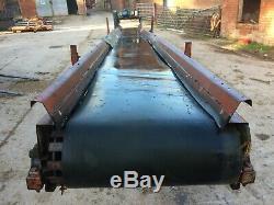 28 foot heavy duty CONVEYOR rubber waste wood logs recycling belt