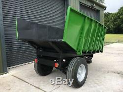 3-4 Ton Dump Trailer, Digger/Excavator, Heavy Duty, Tractor Tipping Trailer