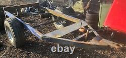 3.4 ton heavy duty single axle Trailer with Ring hitch Shepherd Hut etc Project
