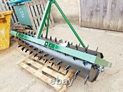 3 FT. Seed Germination Spiked Harrow Farm Aerator Field Roller 3 Point Linkage