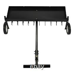 40'' Tow Behind Lawn Aerator Soil Penetrator Spike Tractor Soil Mower Hitch
