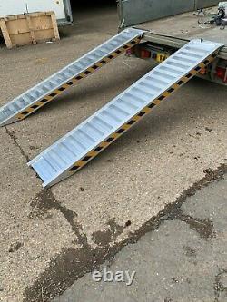 4 Ton Aluminium Loading Ramps Heavy Duty 2.5m Long Pair, Includes VAT & Delivery