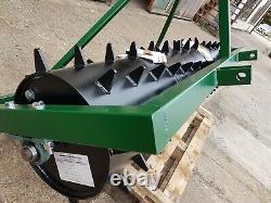 5 FT. Seed Germination Spiked Harrow Farm Aerator Field Roller 3 Point Linkage