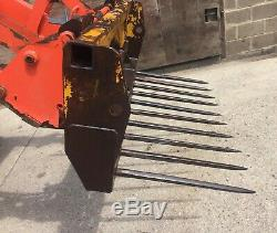 5ft Heavy Duty Fork Muck Manure Logs VAT INCLUDED Loader Tractor Euro Brackets