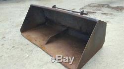 6ft 6 loader bucket heavy duty deep Chilton brackets Massey 80