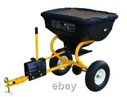 85 Lb Tow Behind Broadcast Spreader Fertilizer ATV Garden Tractor Seed Durable