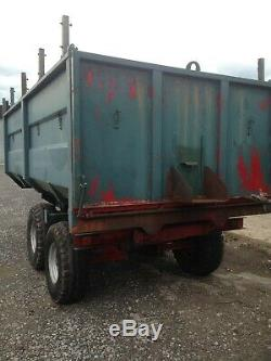 8T heavy duty braked farm / tipper / grain trailer