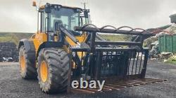 8 FT Grab, Muck Grab, Heavy Duty Loading Shovel JCB/Volvo Brackets, Silage Fork