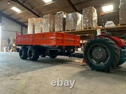 8 Ton Farm Trailer £4950 Drop Side, Dump Trailer Only 4 months Old