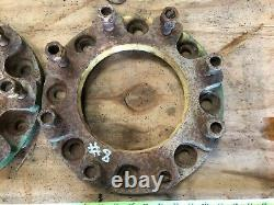 #8 Tractor twin / dual wheel adapter plates / spacers. Extra pair of wheels