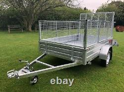 8x5 trailer brand new, galvanised, heavy duty, with cage kit and rear ramp, New