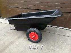 ATV Garden Yard Equestrian Tipper Tractor Trailer ride on mower Heavy Duty Body