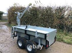 ATV Quad Bike Heavy Duty General Purpose/logging trailer, Crane, Removable Bed