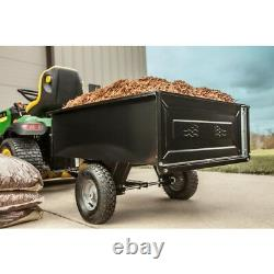 Agri-Fab 10 cu. Ft. Steel Dump Cart Garden Yard Lawn Mower Tractor Trailer