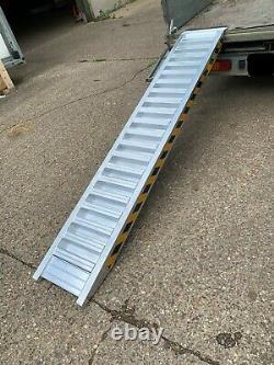Aluminium Loading Ramps 4 TON Heavy Duty 2.5m Long Pair, Includes VAT & Delivery