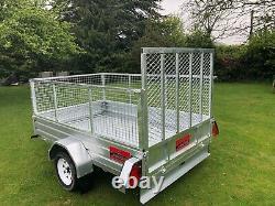 Apache 8X5 heavy duty trailer, new, fully galvanised, UK/EU spec, cage & Ramp