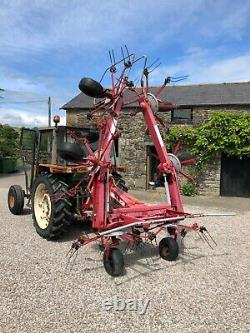 #B1193 JF Stoll Z 765 Pro contractor spec heavy duty 6-rotor tedder. Very strong