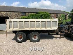 #B1266 Alloy body 18 tonne heavy duty dump trailer 10-stud commercial axles VGC
