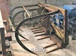 Bale Muck Grab Hydraulic Farmhand Heavy Duty Front Loader Mf Can Load On Lorry