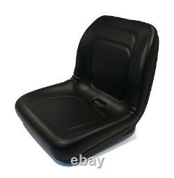Black High Back Seat for Allis Chalmers 24HP 130 & Husqvarna GTH2254XP Lawnmower
