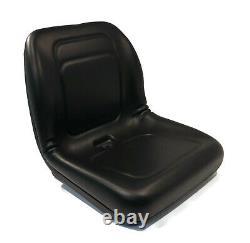 Black High Back Seat for John Deere 165, 240, 245, 260, 265, 285, 318, 320, 325