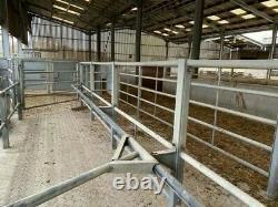 CATTLE RACE inc Drafting Gate, Heavy Duty Cattlemaster Crush, Gates/Hurdles