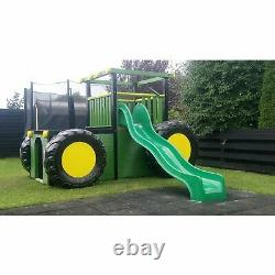 COMMERCIAL TRACTOR CLIMBING FRAME Heavy Duty, Reinforced Rock wall & Steps