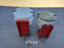 Choice of 2 stocks fanjet slug pelleters/seeders, with control boxes, grassseed