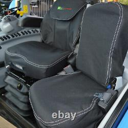 Claas Tractor Black Heavy Duty Seat Covers to fit Grammer Maximo Dynamic Seat