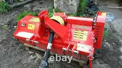 Del Morino Flipper 132 heavy duty flail mower / topper. New April. 9.5 hours use