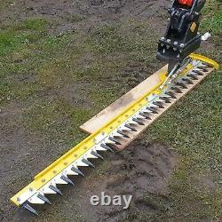 Digger Hedge Cutter, Hydraulic Finger Bar, Large 1.85m, Heavy Duty, NO VAT