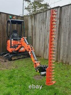 Digger hedge trimmer, Cutter, hydraulic Kubota Heavy Duty Finger Bar, large 1.8m