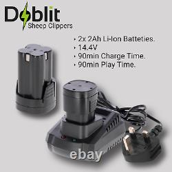 Doblit Clipster Sheep Heavy Duty Clippers 2Ah Cordless Soft Grip Balanced