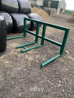 Double Round Bale Handler/carrier Wrapped Bale Made To Order Heavy Duty