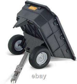 Dump Cart 1000 lb. Capacity Poly Swivel Lawn Garden Tractor ATV Attachment NEW