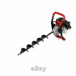 Earth Auger 52cc Post Hole Digger Borer 3 x Drill Fence with Extension Pole 3HP