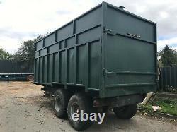 Farm Tipping Trailer Heavy Duty Twin Wheel Good Sound Condition
