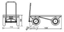 Farm Turntable Truck 1000kg Heavy Duty Platform Truck Hay Cartabouta UK STOCK
