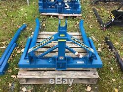 Fleming Tractor 3PL Heavy Duty Single Bale Lifter Tipper Handler Bale Handlin