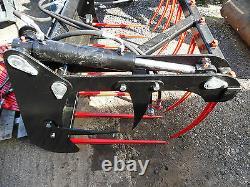 Front Loader Muck Grab Fork 1.25mtr 2.0mtr Euro 8 Brackets VAT INC