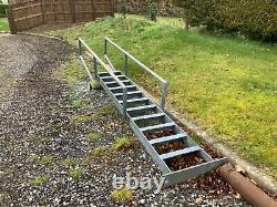 Galvanised heavy gauge staircase Golf hole lookout, milking parlour, fire escape
