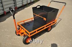 Garden Carts And Wagons Big Wheels Utility Wagon Cargo Tractor Hauling Trailer