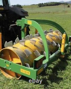 Grassland aerator 8ft Mounted 20, Tractor, Cultivator, Roller, soil drainage